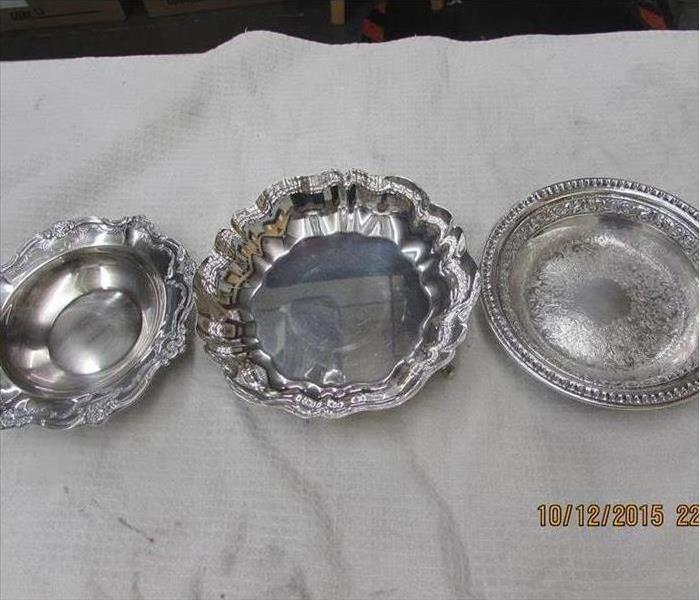 silver plates restored after fire