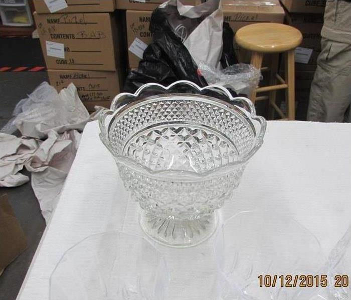 Crystal bowl restored after soot